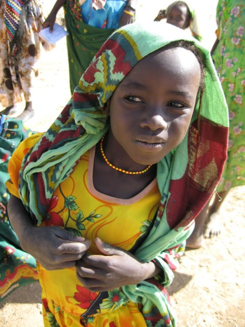 Darfur child in refugee camp